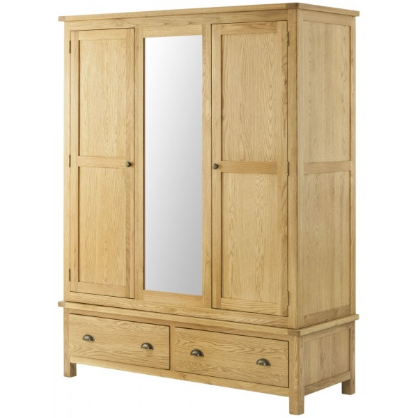 Cavendish Oak Triple Wardrobe