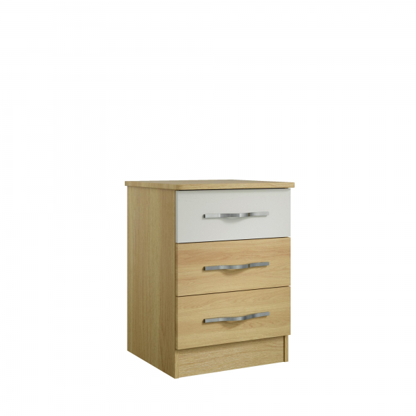 Overton 3 Drawer Bedside