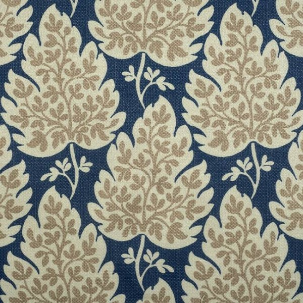 Pencil Pleat Curtains Cassley Blue Cream