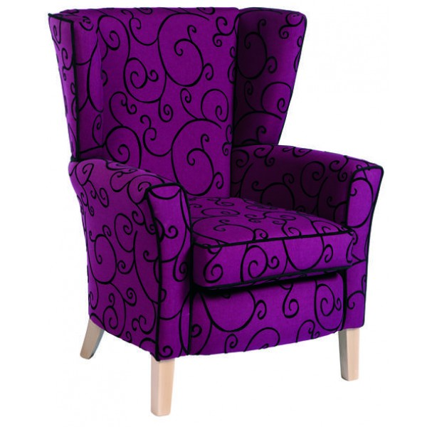 Ashton High Back Armchair with Wings